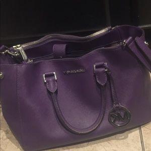 Michael Kors used Medium Purple Satchel